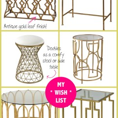 Online Kitchen Store Industrial Tables Spring Shopping  My New Gold Mirrored Table From Build