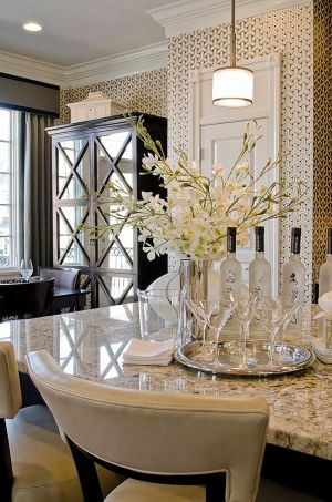 kitchen kitchens glamorous elegant decor dining wall interior decorating dream brass designs dine paper rooms gorgeous hutch mirrored grand living