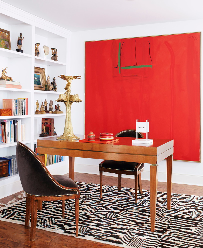 Red Home Office Decorating Ideas