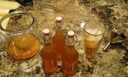 Homemade bottled kombucha