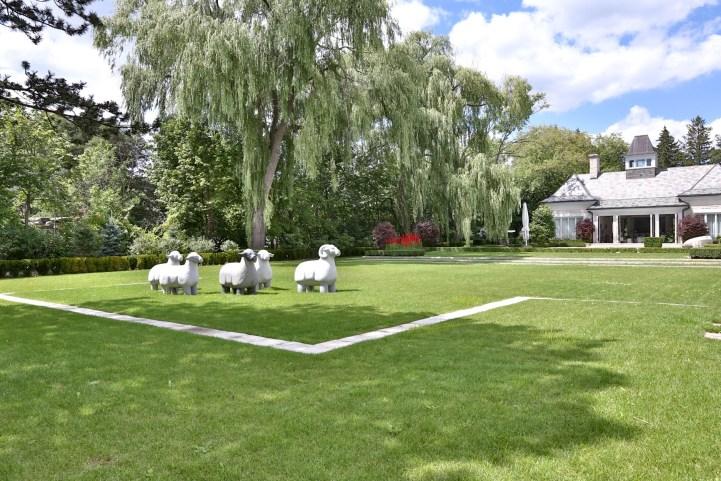 10 High Point Road - Backyard Sheep Sculpture