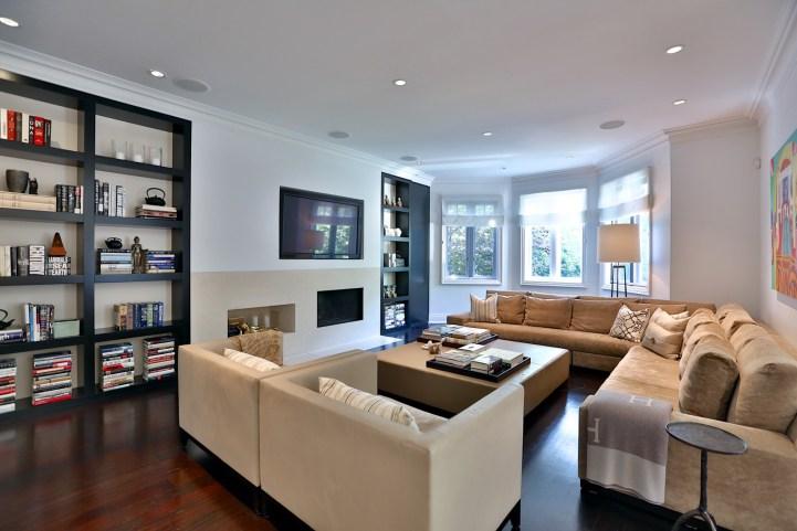 157 South Drive - Family Room TV Wall