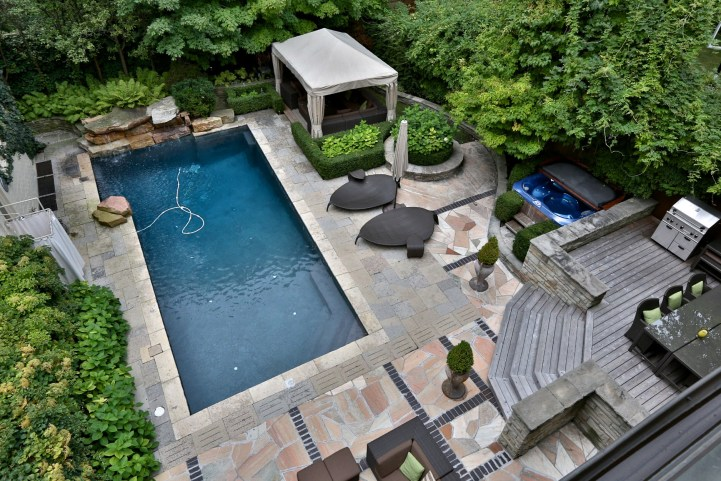 230 Russel Hill Rd - View of Pool From Second Floor