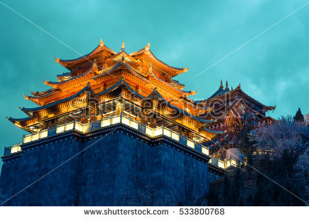 stock-photo-light-from-the-temple-at-night-in-vintage-and-dramatic-tone-at-shangri-la-china-533800768