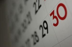 Calendar showing 30 November