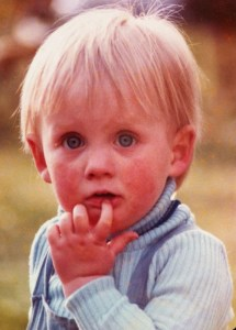 George as a very small boy