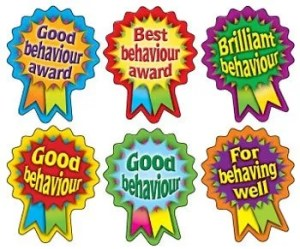 Good behaviour rosettes