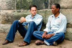 Andy and Red in Shawshank Redemption
