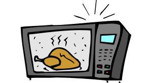 A cartoon of a microwave