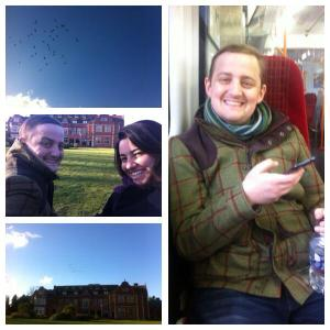 Pictures of Savill Court and George and Mariacristina