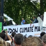 Emma Thompson at the climate march in London
