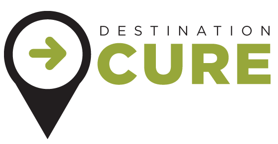 Logo for Anthony Nolan's Destination Cure campaign