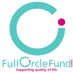 Full Circle Fund Therapies: Supporting quality of life (Ci form turquoise circle with purple dot)