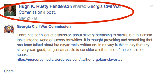Rusty Henderson Facebook screenshot