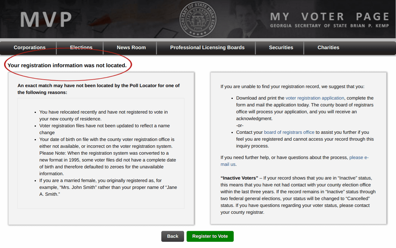 Error: voter registration not found – Better Georgia