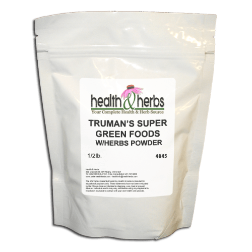 4845-Truman's Super Green Foods w- Herbs Powder