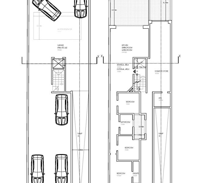 proposed basement floor and ground floor level plan-page-001