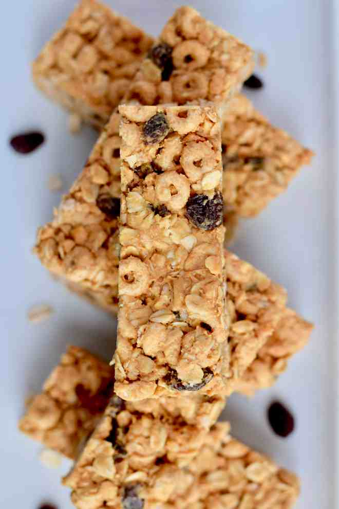 Peanut Butter Cereal Bars have just five low-cost ingredients.