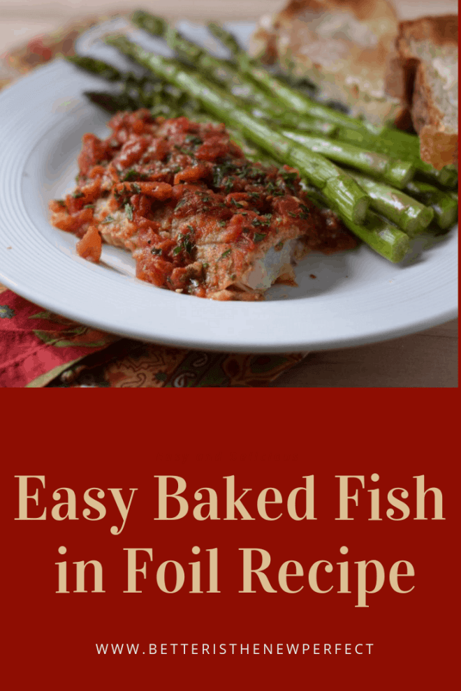 easy baked fish in foil recipe pinterest