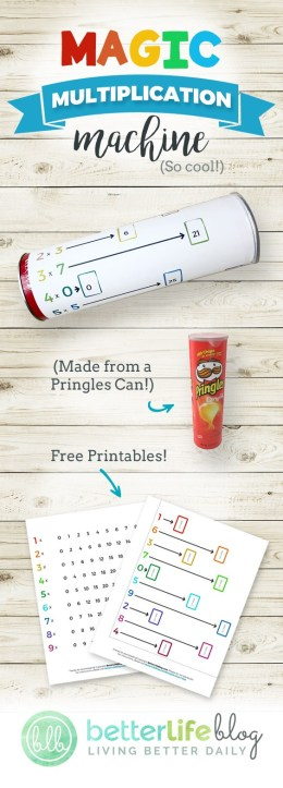 Magic Multiplication Machine made from a Pringles Can - Math Tricks