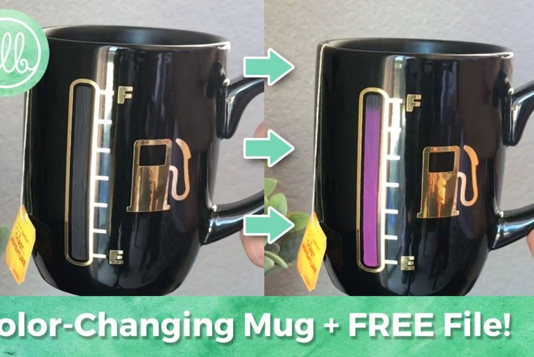 (Free Cut File) Color Changing Mug and Wine Glass Using Cricut Explore or Silhouette Cameo