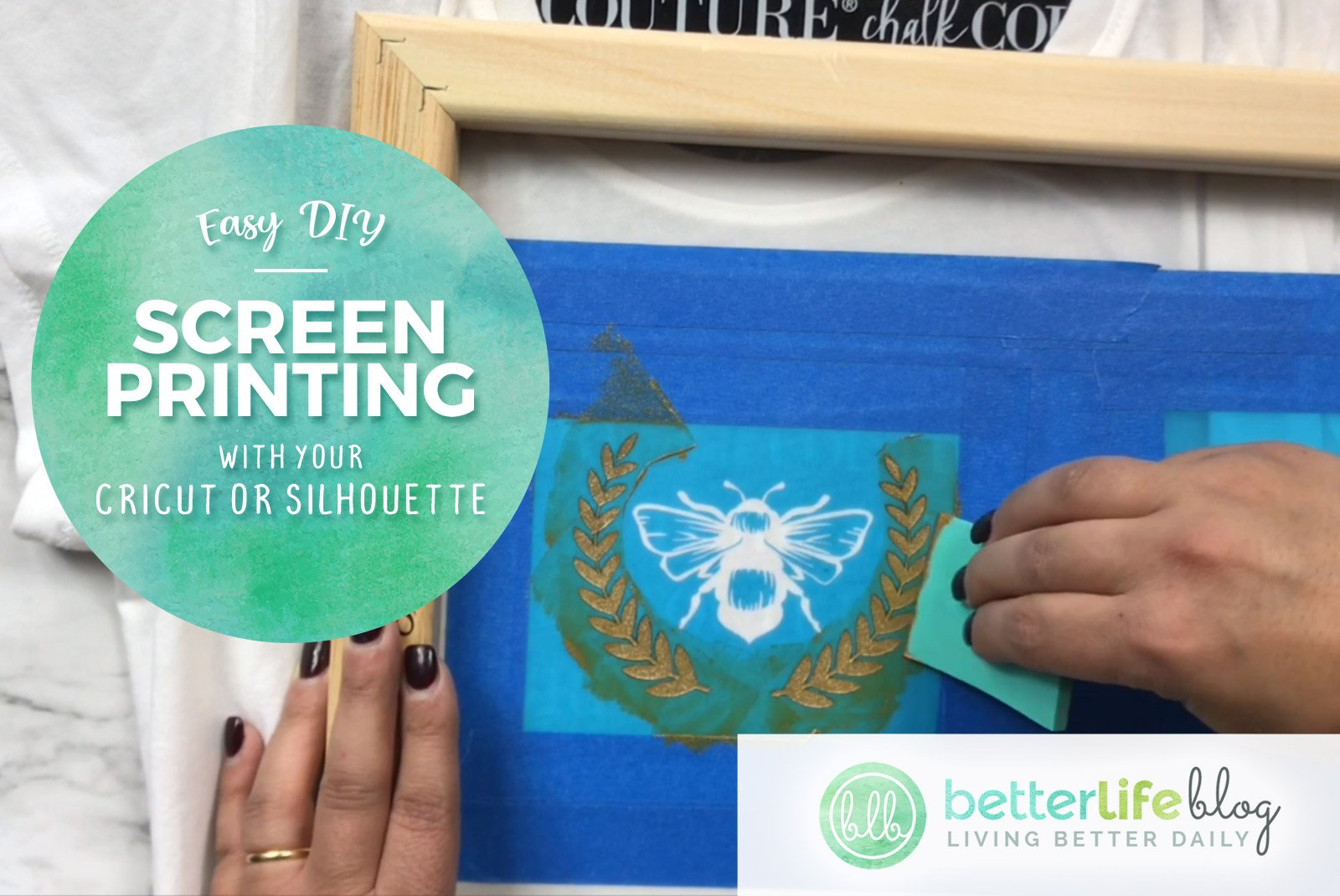 Easy Diy Screen Printing With Cricut Or Silhouette Cameo Better Life Blog