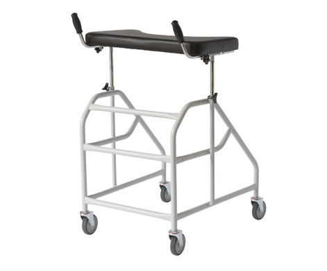walking stick chair heavy duty revolving in qatar forearm walker with wheels | better life centre