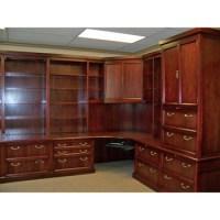 Custom Traditional Wood Corner Office Furniture Desk ...