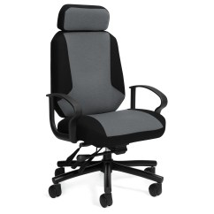 Office Chairs For Heavy People Drafting Chair Height Global 2526 Robust Two Tone 500 Lb Capacity