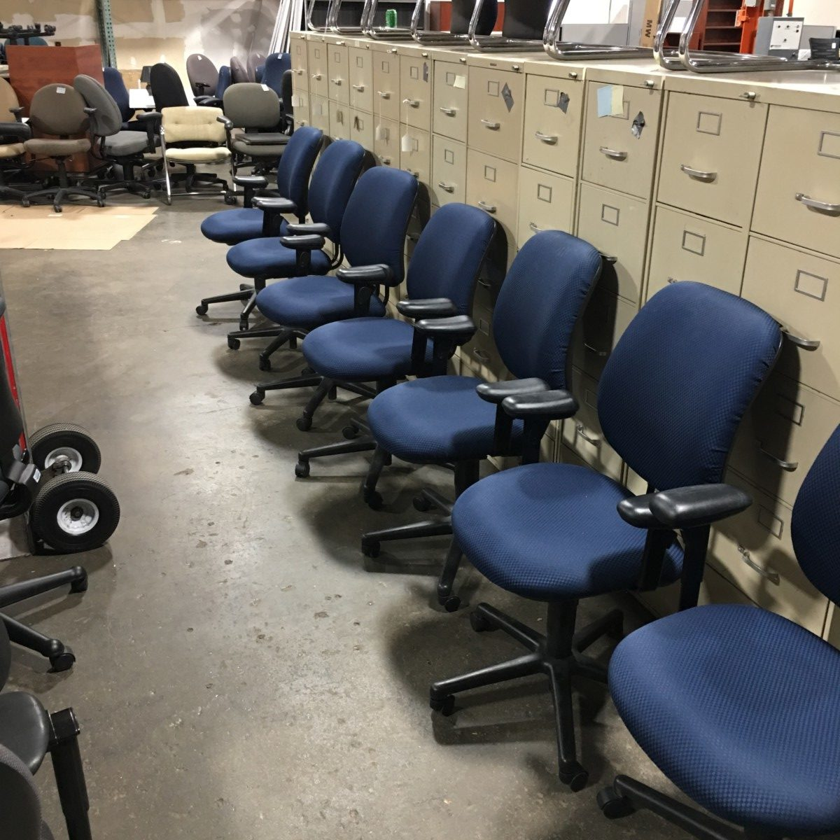 used computer chairs childrens table and chair sets plastic blue hon task 55 better office furniture