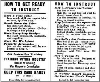 Job Instruction Card