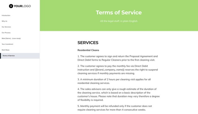 This [Free] Cleaning Service Proposal Template Won $12M of Business