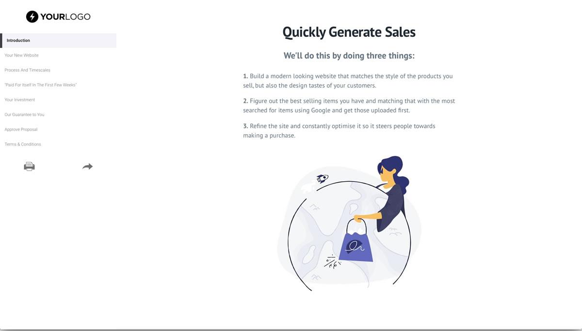 Free Ecommerce Web Design Proposal Template - Better Proposals