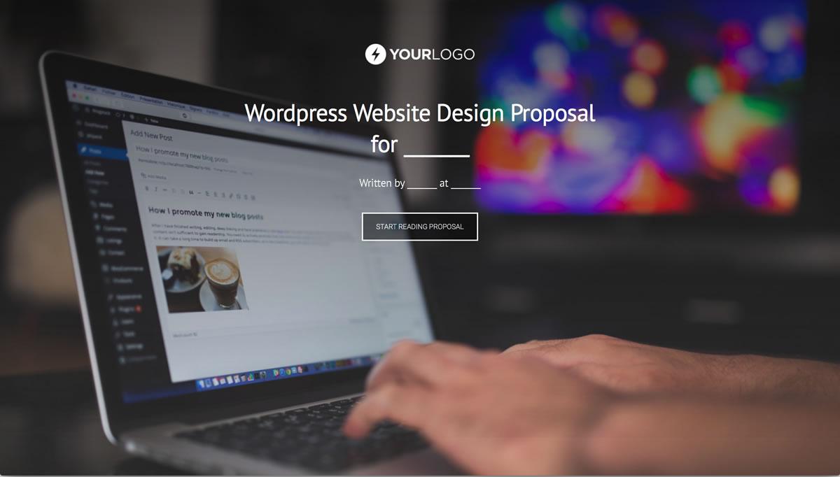 Free WordPress Website Design Proposal Template - Better Proposals