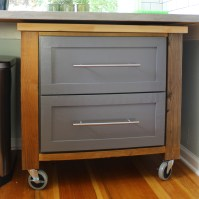 {DIY} Rolling Kitchen Cart