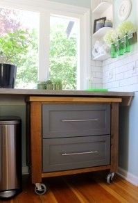 {DIY} Rolling Kitchen Cart  Better Remade