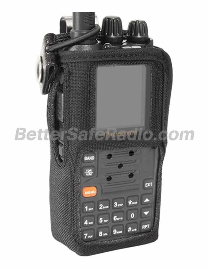 Powerwerx CSC-9 Heavy Duty Nylon Windowed Radio Case with Stainless Swivel Belt Clip