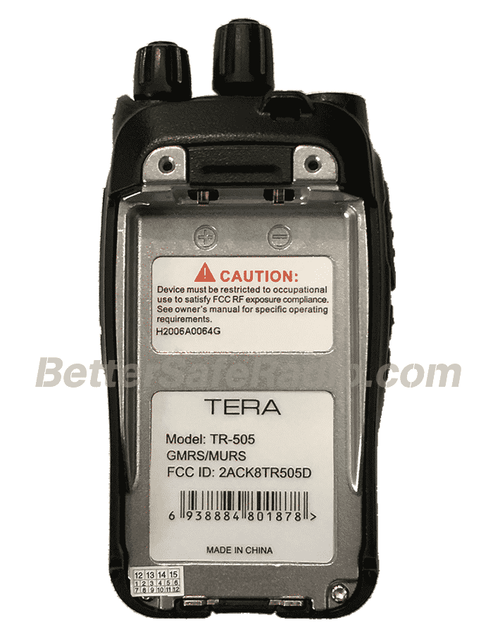 TERA TR-505 GMRS-MURS Two-Way Radio - Body Back