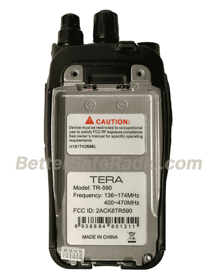 TERA TR-590 Commercial Ham Two-Way Radio - Body Back