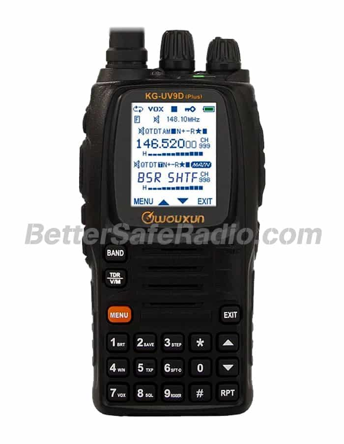 Wouxun KG-UV9D (Plus) Emergency Ham Two-Way Radio - Assembled Stock