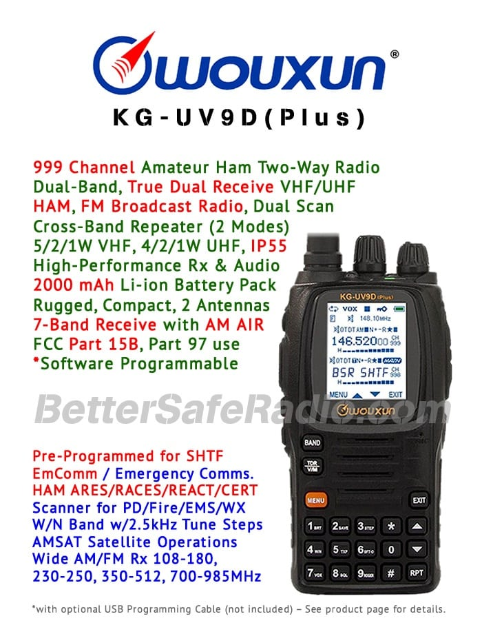 Wouxun KG-UV9D(Plus) Amateur Ham Two-Way Radio - Flyer