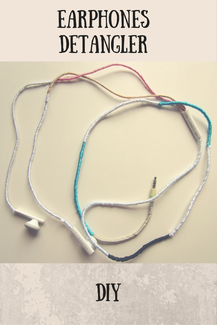 diy earphones decoration, detangler