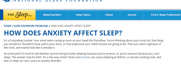 sleeping with anxiety