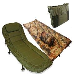 Fishing Bed Chair Used Folding Cap Covers Carp Bedchair Sleeping Bag Deal Night