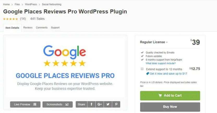 google reviews plugin for wordpress