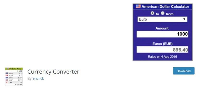 wordpress currency converter plugin