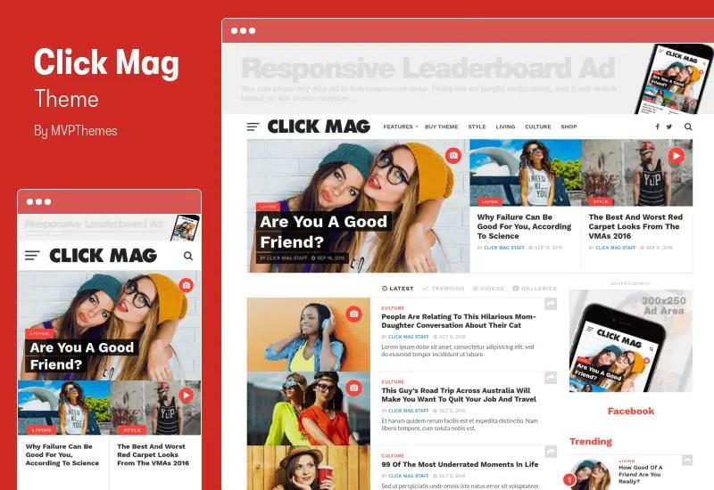 Click Mag Theme - Viral WordPress News Magazine/Blog Theme