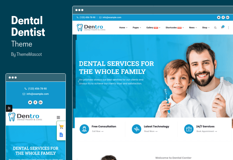 Dental Dentist Theme - WordPress Theme for Dental Clinic