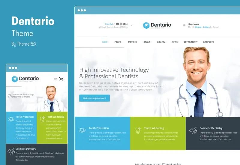 Dentario Theme - Dentist, Medical & Healthcare WordPress Theme
