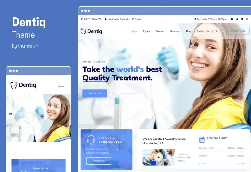 Dentiq Theme - Dental & Medical WordPress Theme